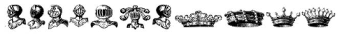 Stahlhelme Und Kronen Font UPPERCASE