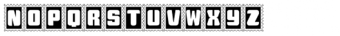 Stamps Font UPPERCASE