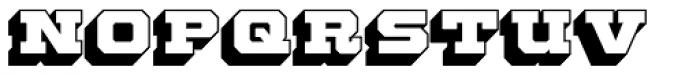 Standard Shaded Slab Font UPPERCASE