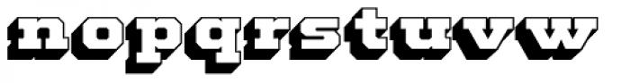 Standard Shaded Slab Font LOWERCASE