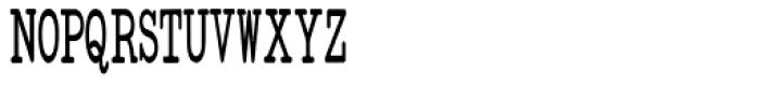 Standard Typewriter Condensed Font UPPERCASE