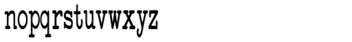 Standard Typewriter Condensed Font LOWERCASE