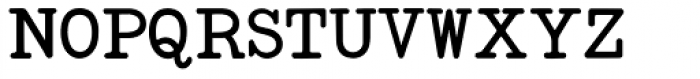 Standard Typewriter Font UPPERCASE