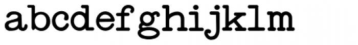 Standard Typewriter Font LOWERCASE