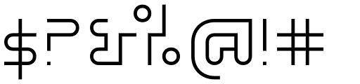Standard-bb 40 Font OTHER CHARS