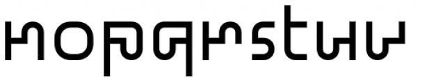 Standard-bb 60 Font LOWERCASE