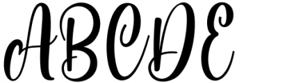 Standing Miracle Regular Font UPPERCASE