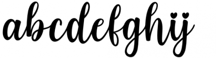 Standing Miracle Regular Font LOWERCASE