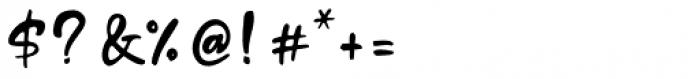 Standing Script Regular Font OTHER CHARS
