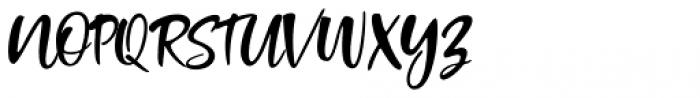 Standing Script Regular Font UPPERCASE