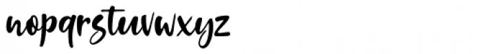 Standing Script Regular Font LOWERCASE