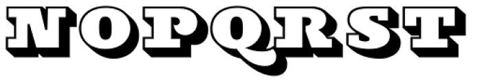 Stanzer Block Font UPPERCASE
