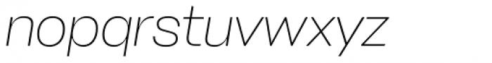 Stapel Extra Light Italic Font LOWERCASE