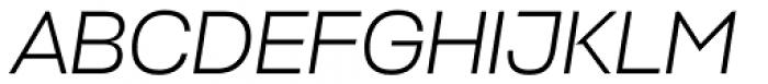 Stapel Light Italic Font UPPERCASE