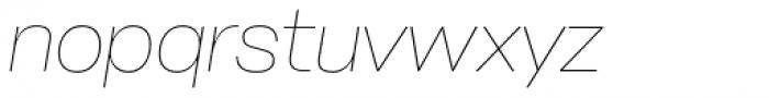Stapel Thin Italic Font LOWERCASE