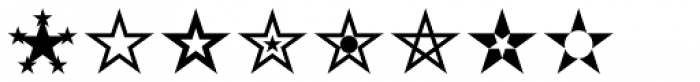 Star Assortment Font OTHER CHARS