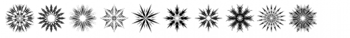 Star Crystals Font LOWERCASE