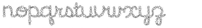 Star Cursive Shine Font LOWERCASE