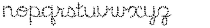 Star Cursive Font LOWERCASE