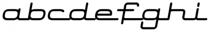 Starliner BTN Bold Oblique Font LOWERCASE
