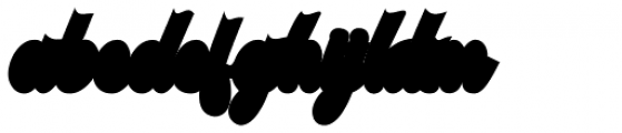 Stayhill Extruded Font LOWERCASE