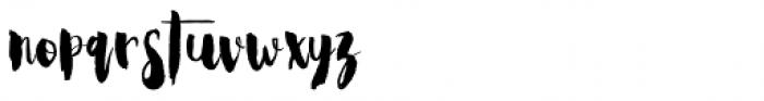 Steady Bonanza Script Font LOWERCASE