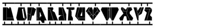 Stealth Model Font UPPERCASE