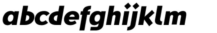 Steamer Black Italic Font LOWERCASE