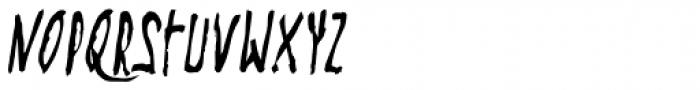 Steel String Italic Font UPPERCASE