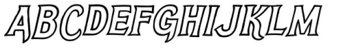 Steelyard Oblique Font UPPERCASE