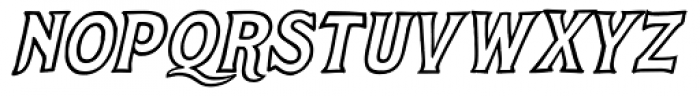 Steelyard Oblique Font LOWERCASE