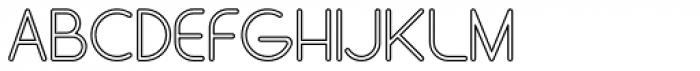 Stefani EHYO Outline Font UPPERCASE