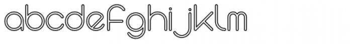 Stefani EHYO Outline Font LOWERCASE