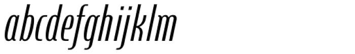 Steletto Neue Regular Oblique Font LOWERCASE