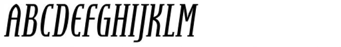 Steletto Serif Italic Font UPPERCASE