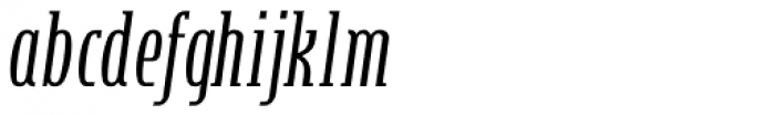 Steletto Serif Italic Font LOWERCASE