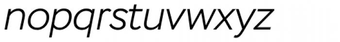 Stem Light Italic Font LOWERCASE