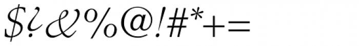 Stempel Schneidler Light Italic Font OTHER CHARS