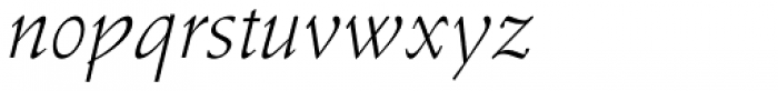 Stempel Schneidler Light Italic Font LOWERCASE
