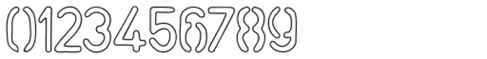 Stemplate Outline Font OTHER CHARS