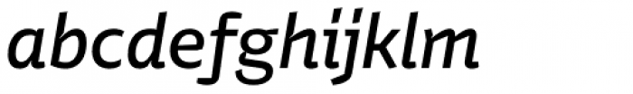 Stena Medium Italic Font LOWERCASE