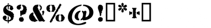 Stencil Antiqua AI Rough Font OTHER CHARS