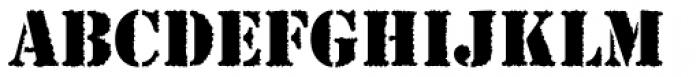 Stencil Antiqua AI Rough Font LOWERCASE
