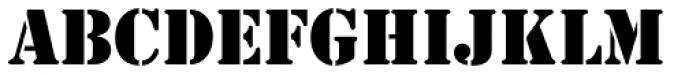 Stencil Antiqua EF Font UPPERCASE