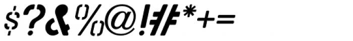 Stencil Board Oblique JNL Font OTHER CHARS
