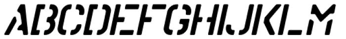 Stencil Board Oblique JNL Font UPPERCASE