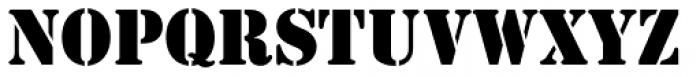 Stencil D Font LOWERCASE