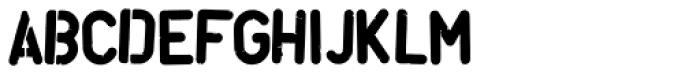 Stencil Font Damage Font UPPERCASE