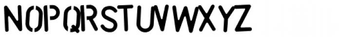Stencil Font Damage Font LOWERCASE