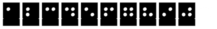 Stencil Full Braille Negative Font UPPERCASE